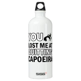 Capoeira designs aluminum water bottle