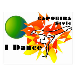 capoeira gift mma martial arts brazil abada axe postcard