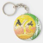 capoeira ginga axe keychain