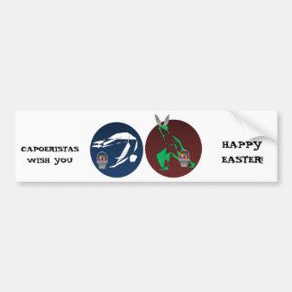 CAPOEIRA HAPPY EASTER AXE BUMPER STICKER
