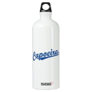 Capoeira in blue distressed aluminum water bottle