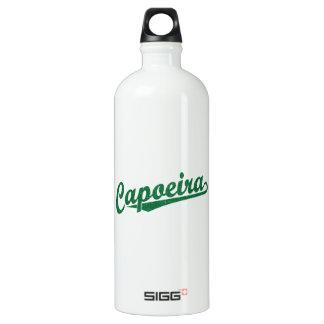 Capoeira in green distressed aluminum water bottle