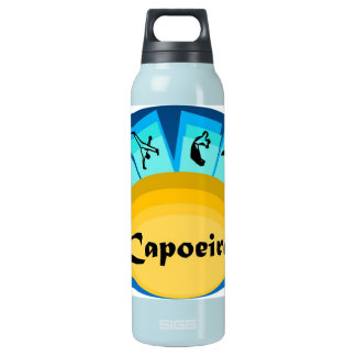 capoeira martial arts brazil axe insulated water bottle