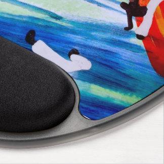 capoeira martial arts love brazil axe gel mouse pad