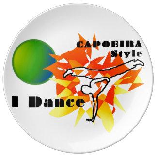 capoeira mma mixed martial arts brasil axe porcelain plates