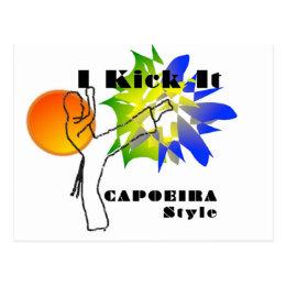 capoeira mma mixed martial arts brasil axe postcard