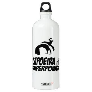 capoeira my superpower aluminum water bottle
