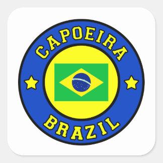 Capoeira Pegatina Cuadrada