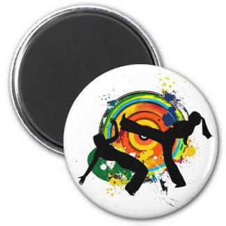capoeira silhouette magnet