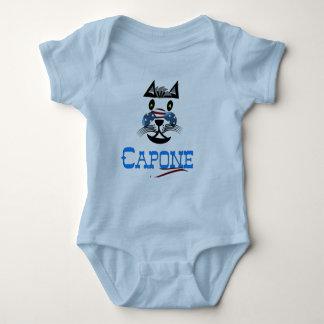 """""""Capone"""" baby Body in grey Baby Bodysuit"""
