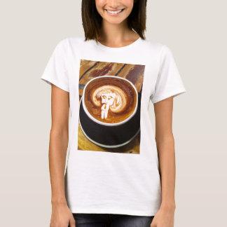 Cappacino coffee man tee shirt.