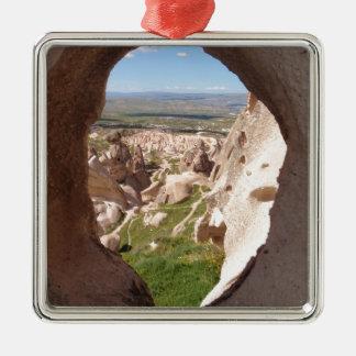 Cappadocia. Adorno Navideño Cuadrado De Metal
