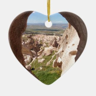 Cappadocia. Adorno Navideño De Cerámica En Forma De Corazón