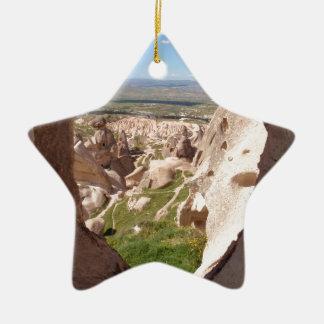 Cappadocia. Adorno Navideño De Cerámica En Forma De Estrella
