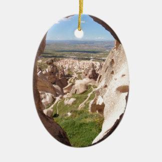 Cappadocia. Adorno Navideño Ovalado De Cerámica