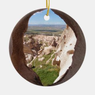 Cappadocia. Adorno Navideño Redondo De Cerámica