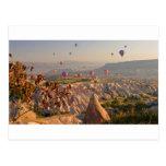 Cappadocia hot air balloons. postcard