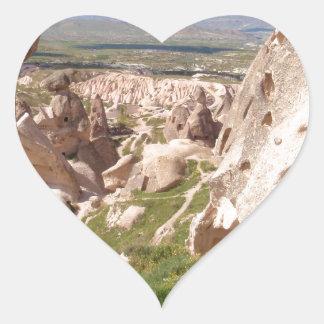Cappadocia. Pegatina En Forma De Corazón