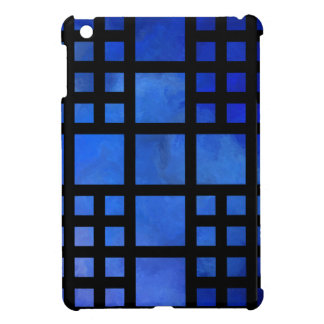 Cappanella V1 - blue squares iPad Mini Covers