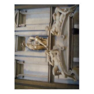 Cappelle sumario Medicee capillas de Medici en F Tarjeta Postal
