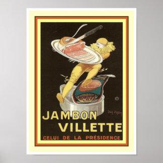 Cappielllo Jambon Villette Ad Poster 12 x 16