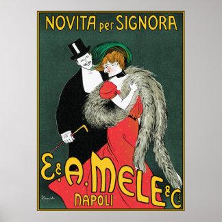 Cappiello - arte del vintage - Novita por Signora Poster