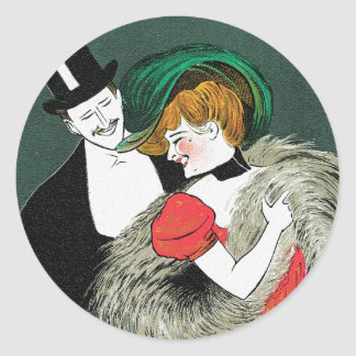 Cappiello - Vintage Art - Novita per Signora Classic Round Sticker