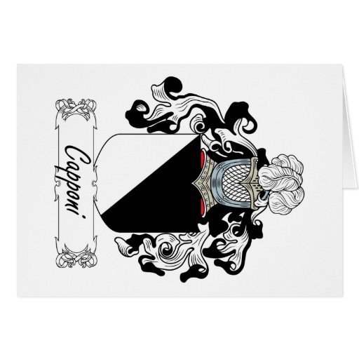 Capponi Family Crest Greeting Card