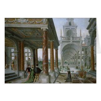 Cappricio de la arquitectura del palacio tarjeta de felicitación