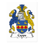 Capps Family Crest Post Cards
