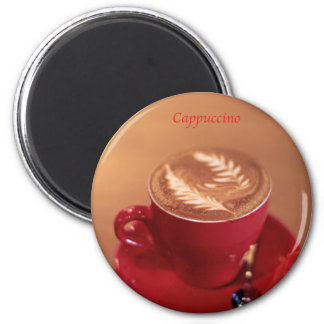 Cappuccino 2 Inch Round Magnet