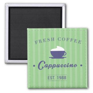 Cappuccino 2 Inch Square Magnet