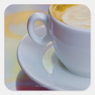 Cappuccino 2 square sticker