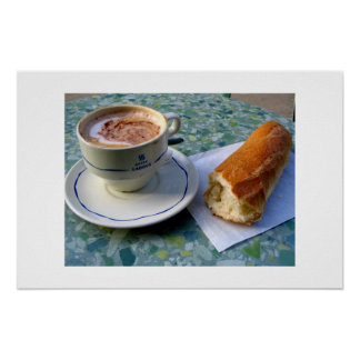 Cappuccino and Baguette Print