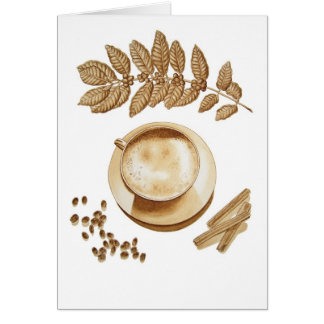 Cappuccino and Cinnamon Card