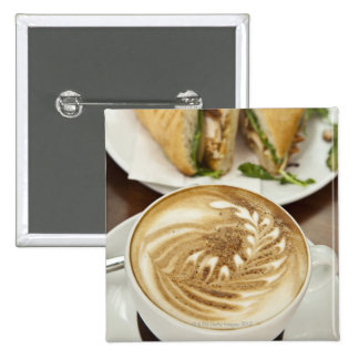 Cappuccino and panini lunch button