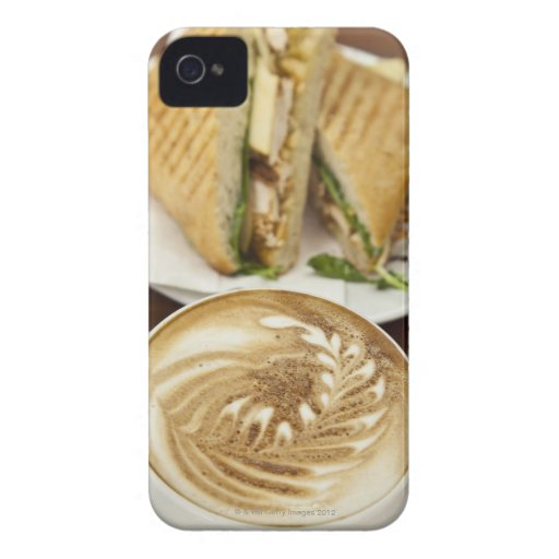 Cappuccino and panini lunch Case-Mate iPhone 4 cases