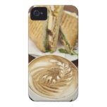 Cappuccino and panini lunch iPhone 4 case