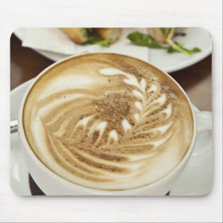 Cappuccino and panini lunch mouse pad