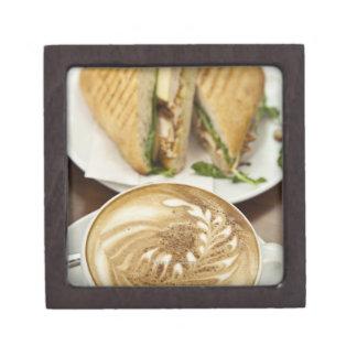 Cappuccino and panini lunch premium gift box