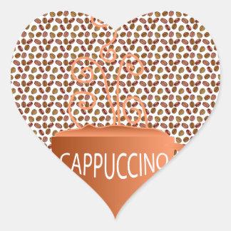 Cappuccino Beans Heart Sticker