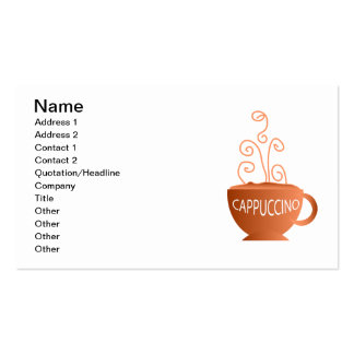 Cappuccino Business Cards