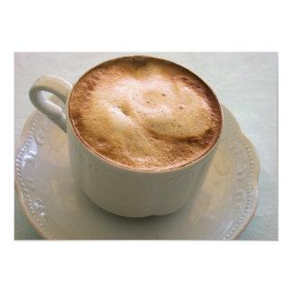 """Cappuccino, café italiano invitación 5"""" x 7"""""""