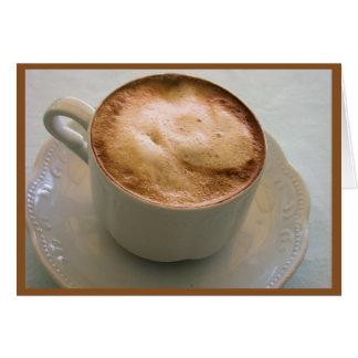 Cappuccino, café italiano tarjeta pequeña