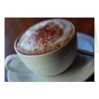 Cappuccino Card Card