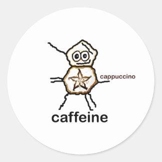 Cappuccino Classic Round Sticker