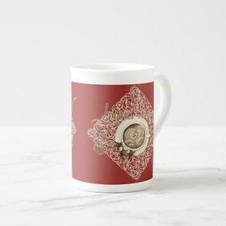 Cappuccino Coffee Heart Leaf Swirl Star Cookie Tea Cup