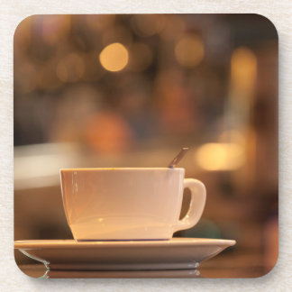 Cappuccino coffee, Venice, Italy Beverage Coaster