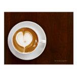 Cappuccino con amor tarjetas postales