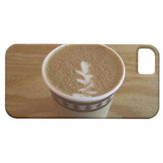 Cappuccino con diseño del árbol en espuma funda para iPhone 5 barely there